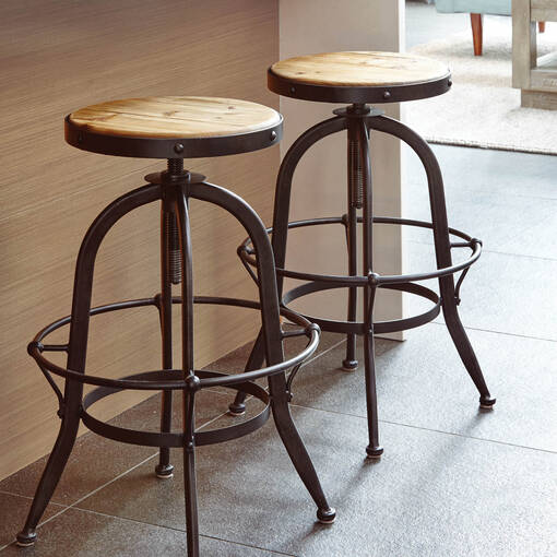Yaletown Counter Stool -Faded Pine