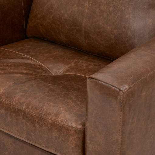 Lucca Custom Leather Armchair