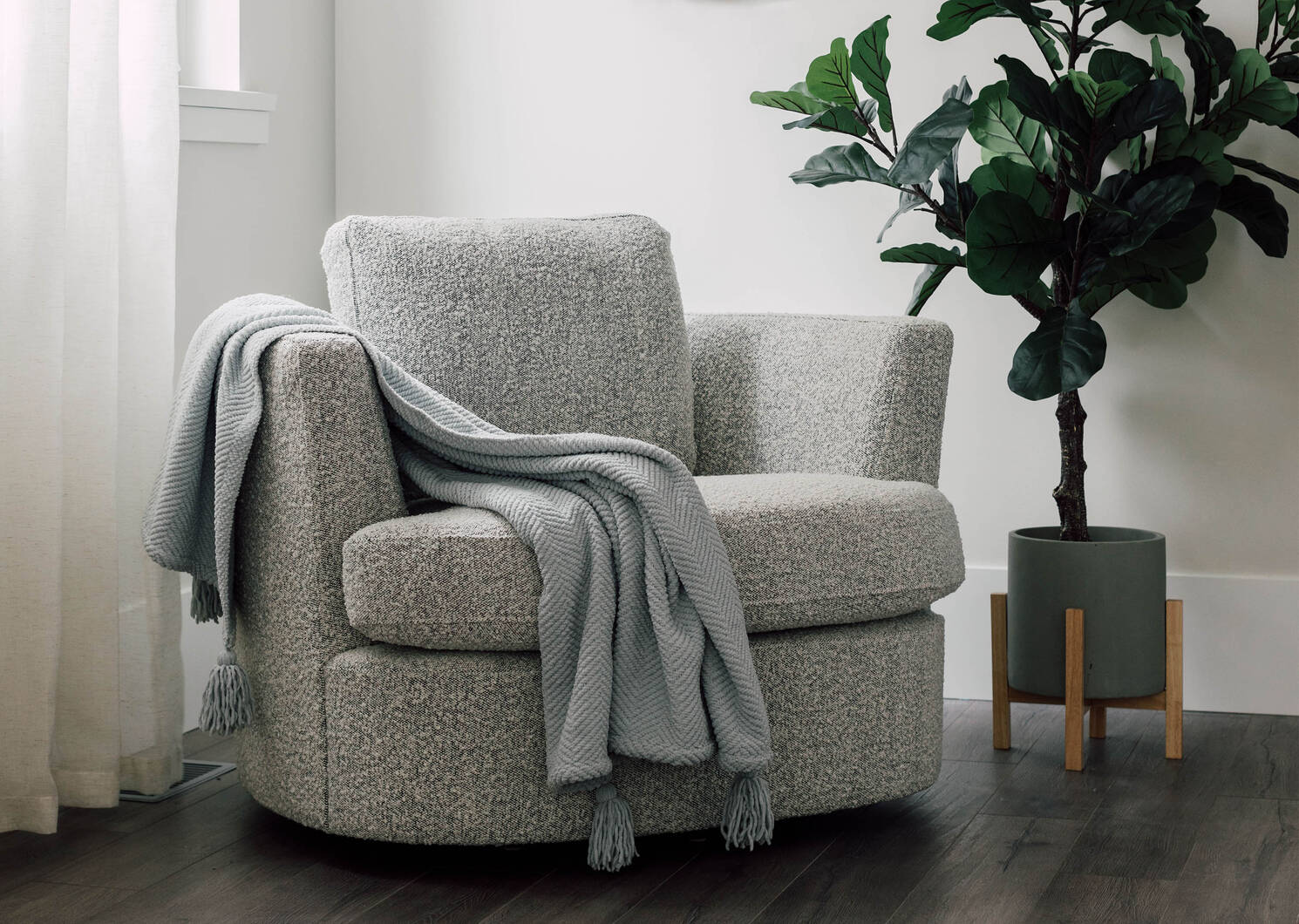 Fauteuil pivotant Beverly
