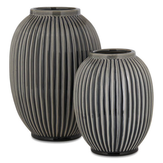 Vases Aubrey -noirs/lait