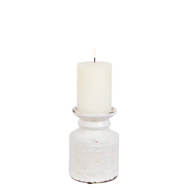Tyree Candle Holder Small White