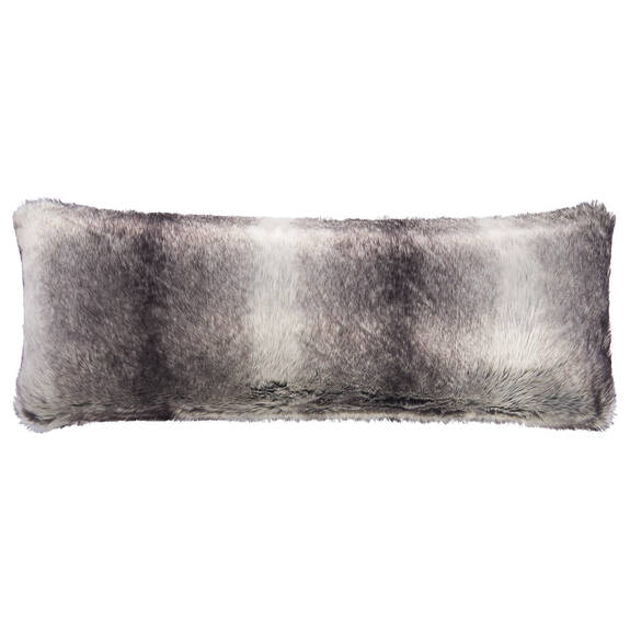 Haven Faux Fur Toss 14x36 Grey Wolf