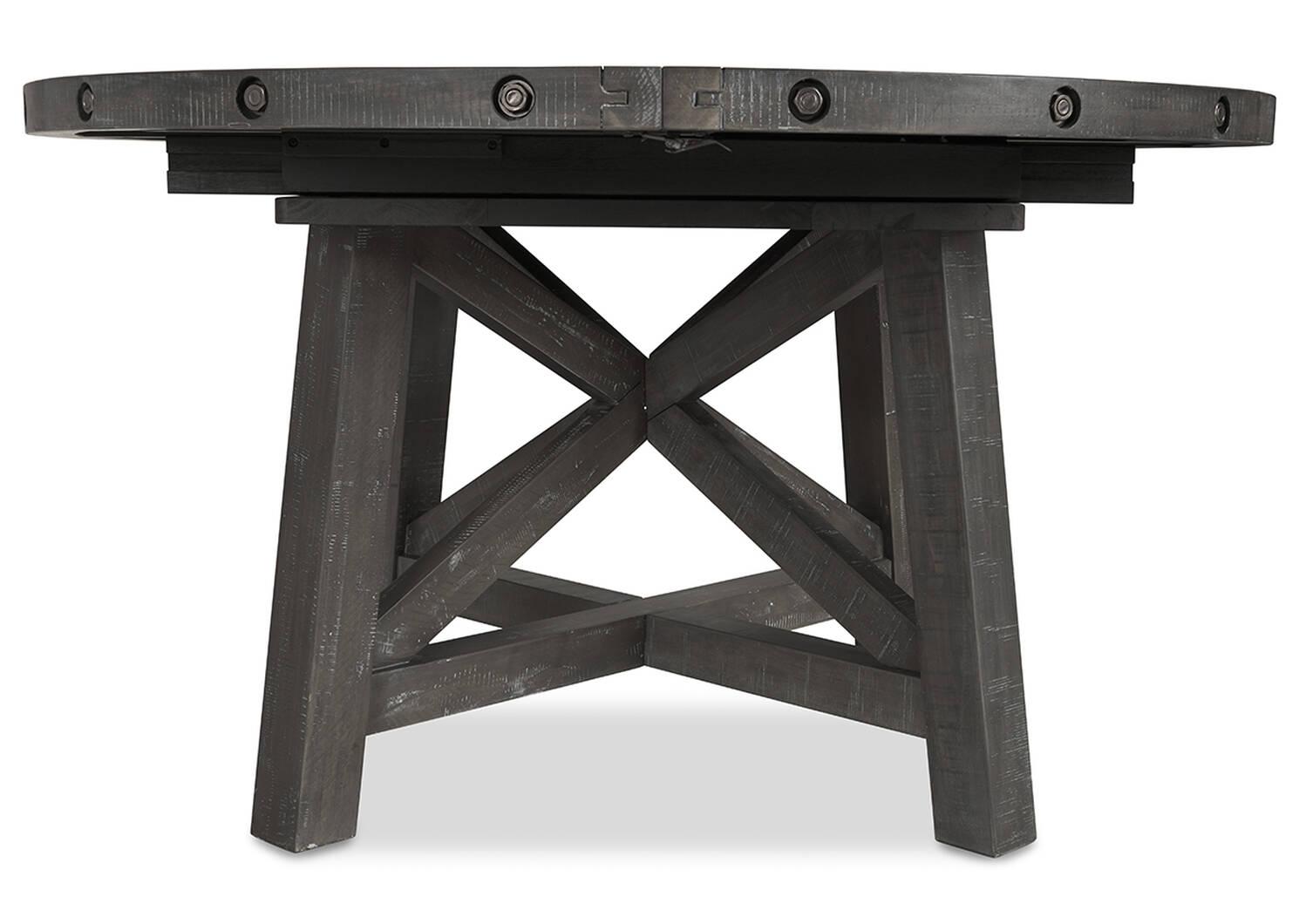 Table ronde à rallonge Ironside -fumée