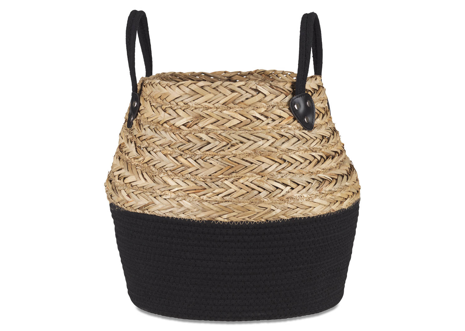 Racquel Basket Large Natural/Black