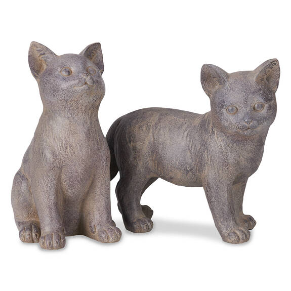 Kitten Garden Sculpture - Cobble