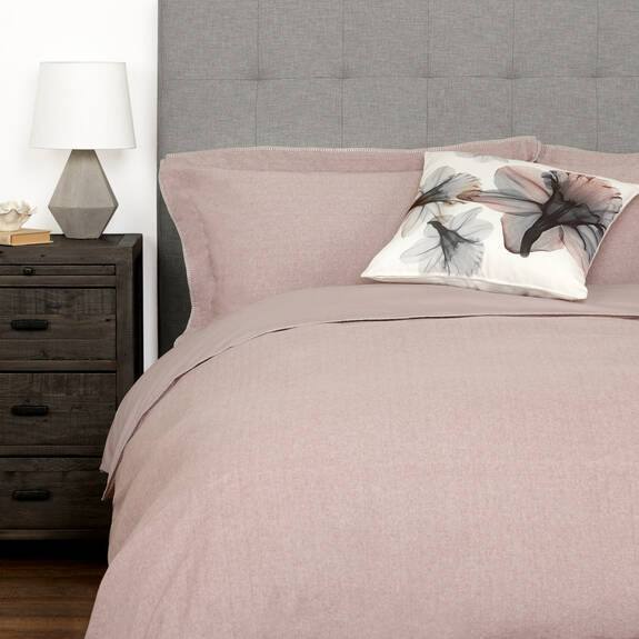 Palmas Duvet Set - Blush