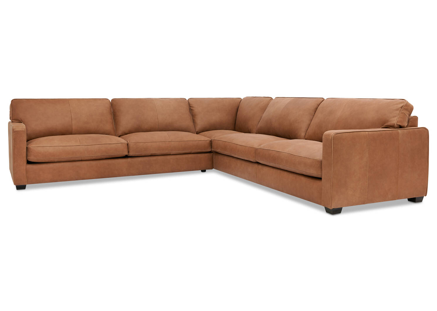 Burke Custom Leather Sectional