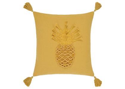 Coussin ananas Mahana 20x20 champ doré