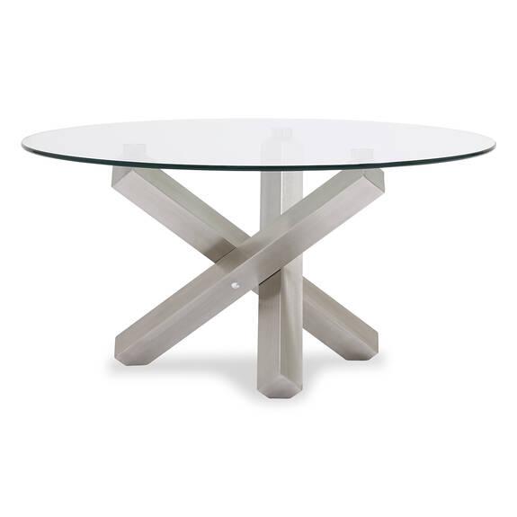 Maverick Coffee Table -Brushed Steel