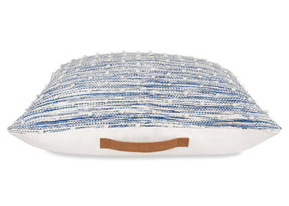 McLeod Floor Cushion Blue/Ivory