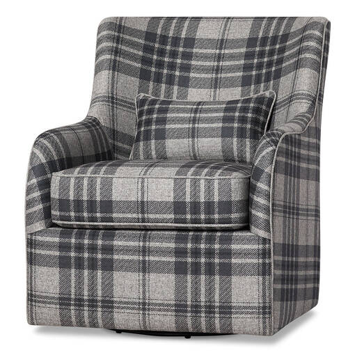 Coventry Swivel Armchair -Marta Charcoal