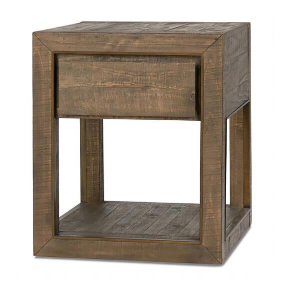 Mandalay Side Table -Dune Brown
