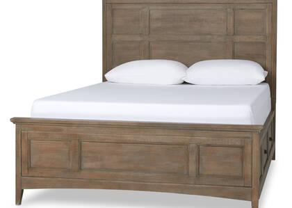 Parker Storage Bed- Heron Sand, QUEEN