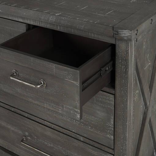 Bureau à 7 tiroirs Ironside -fumée