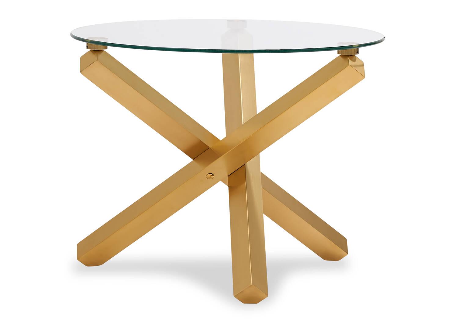 Table d'appoint Maverick -laiton mat