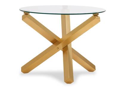 Maverick Side Table -Matte Brass
