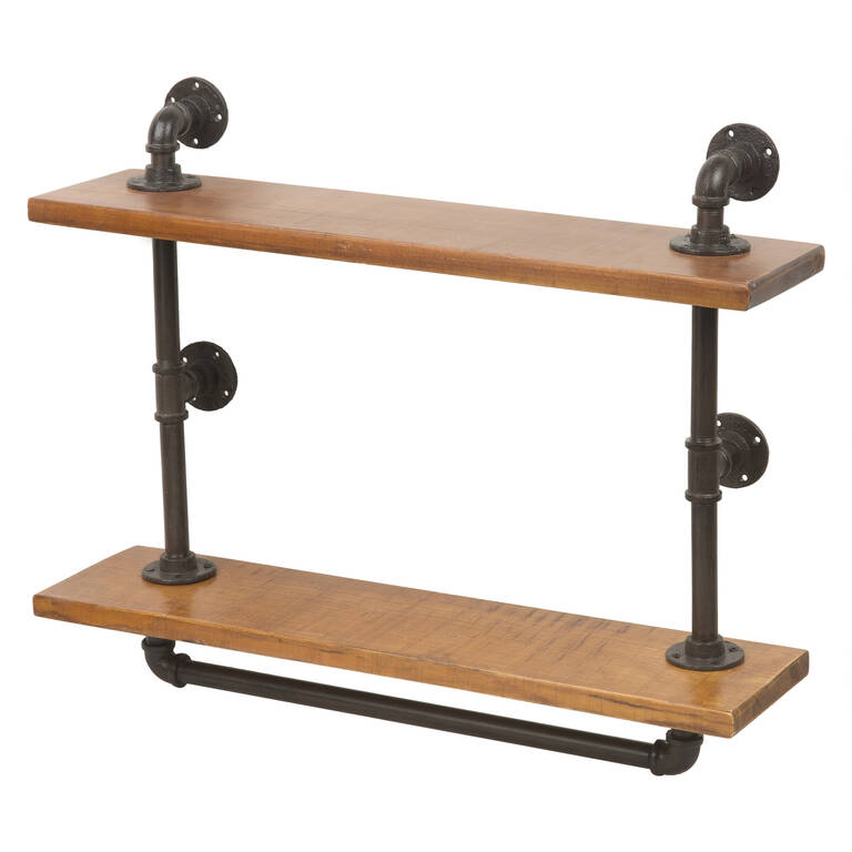 Rus Wall Shelf Iron/Wood