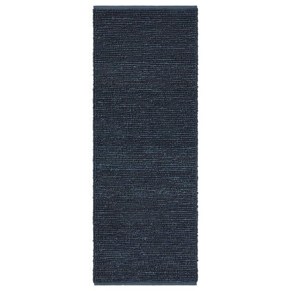 Tapis couloir Doherty 30x84 bleu foncé