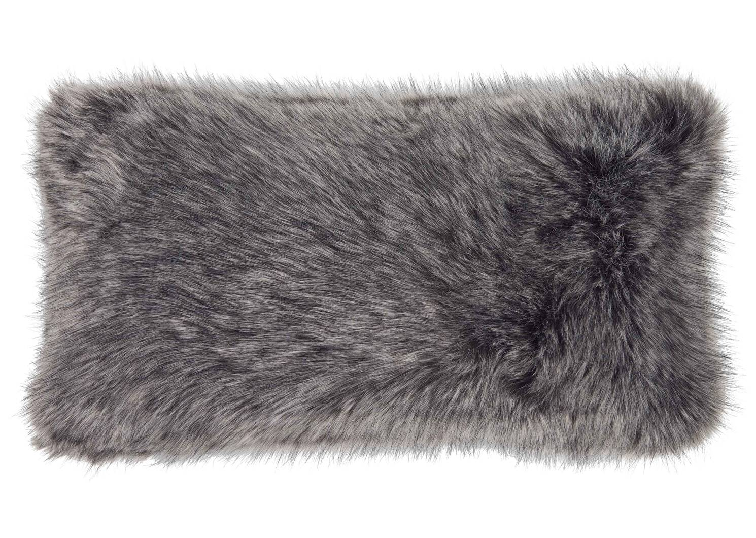 Northern Faux Fur Toss 12x22 Silver F