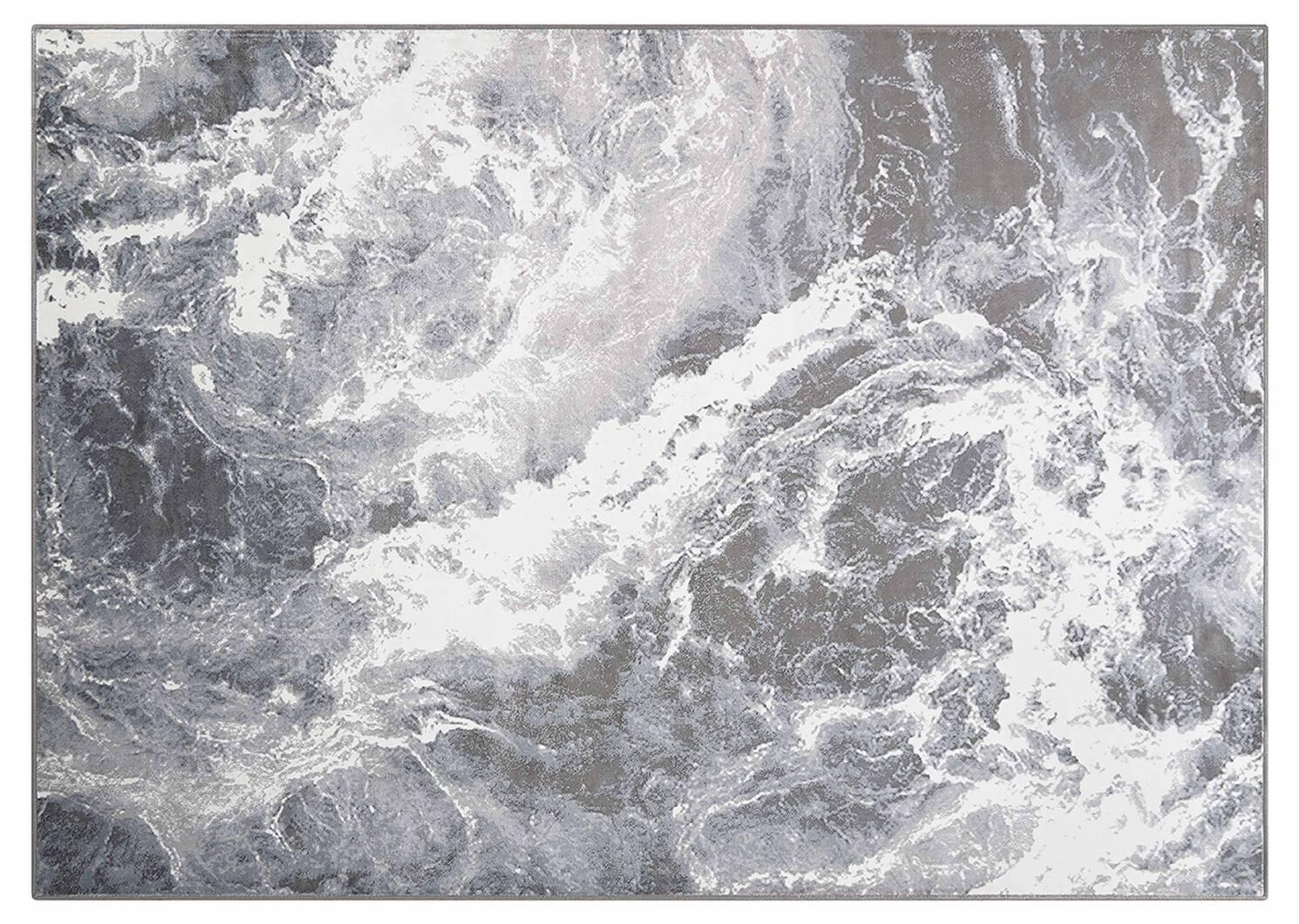 Tapis Thibault 67x95 naturel/gris