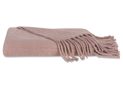 Downey Brushed Throw Ballet Pink