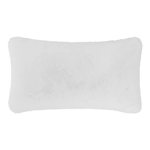 Flora Faux Fur Toss 12x22 White