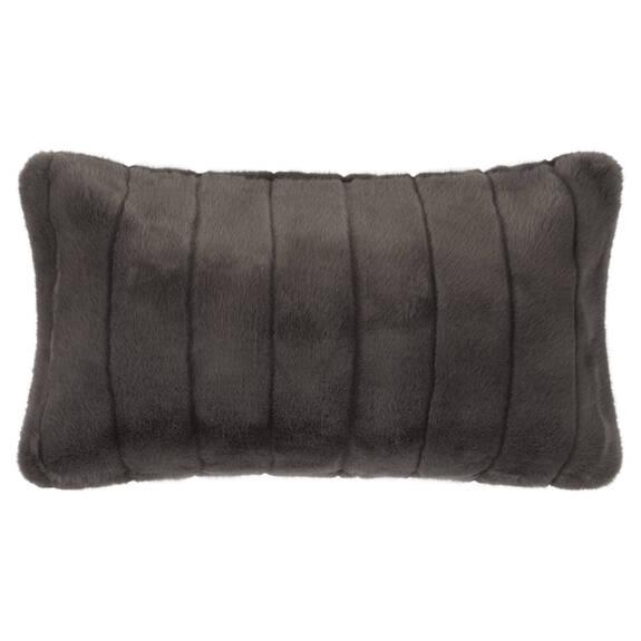 Starlet Faux Fur Toss 12x22 Dark Grey