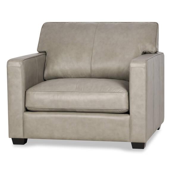 Burke Custom Leather Armchair