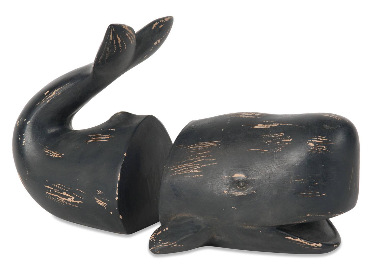 Ens. d'appuie-livres baleine Cachalot