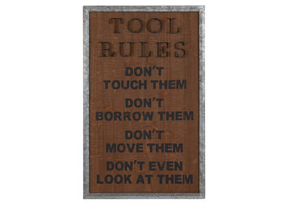 Déco murale Tool Rules