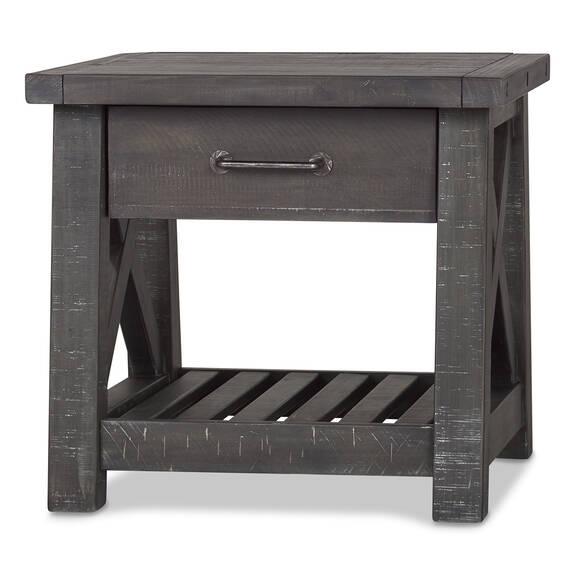 Table app. à un tiroir Ironside -fumée