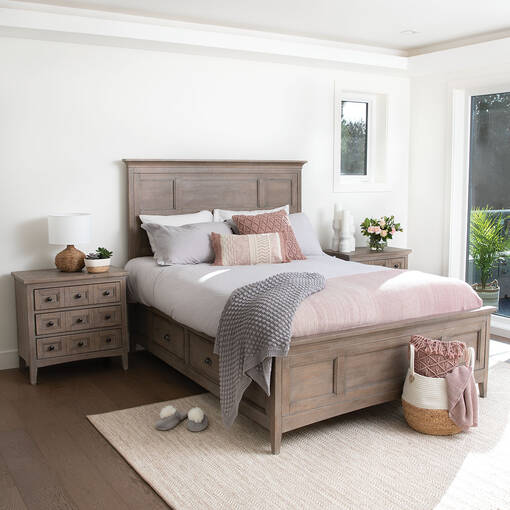 Parker Storage Bed, Heron Sand