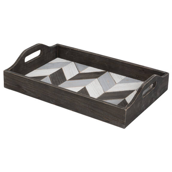 Kelsey Chevron Tray Rectangle