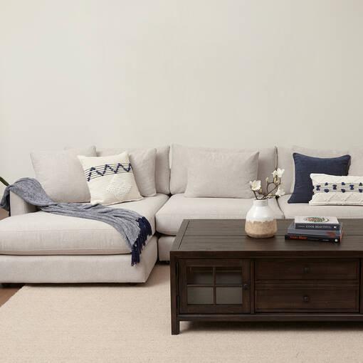 Berg Sofa Chaise -Egyptian Dove