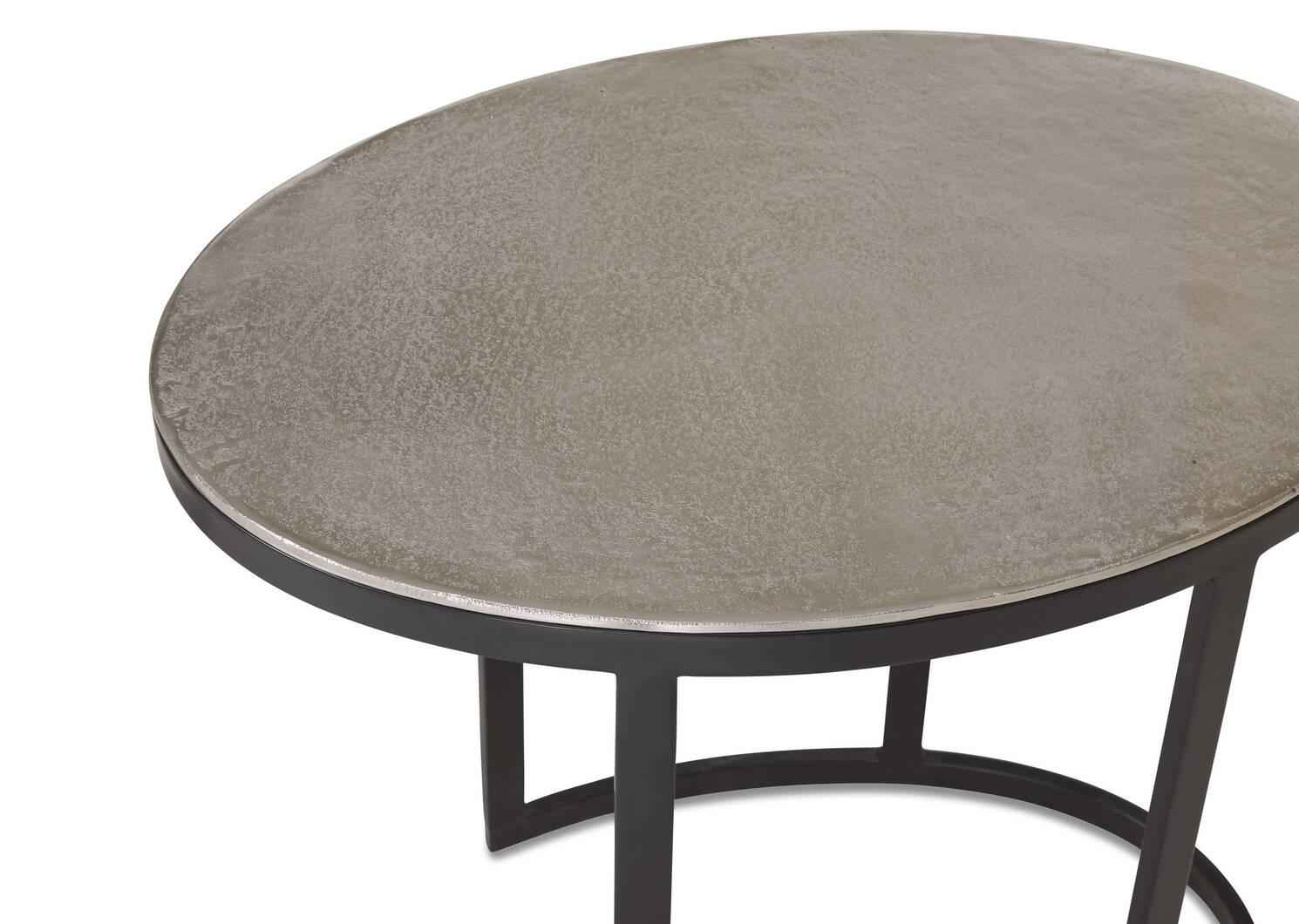 Tables gigognes Marley -nickel brut