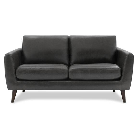 Henderson Leather Loveseat -Tio Licorice