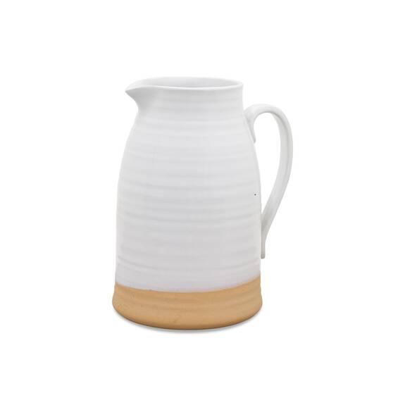 Petit vase carafe Lois blanc