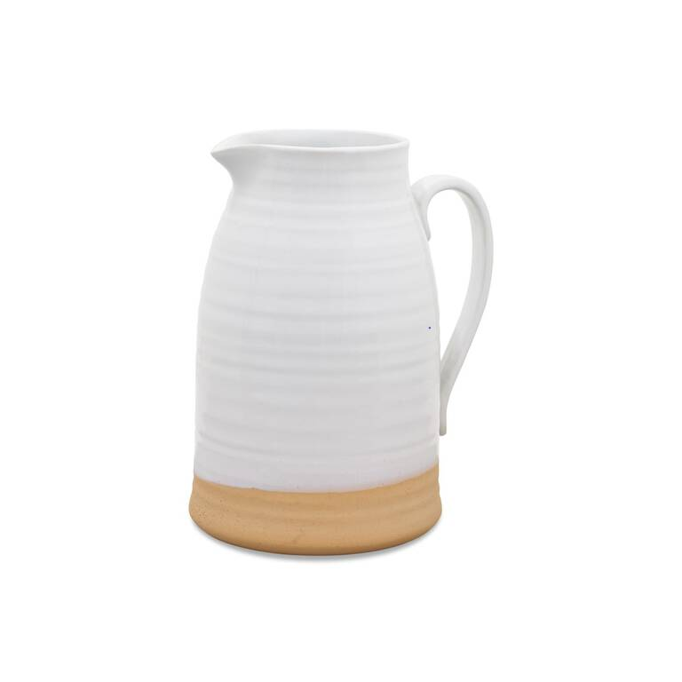 Lois Pitcher Vase White Small
