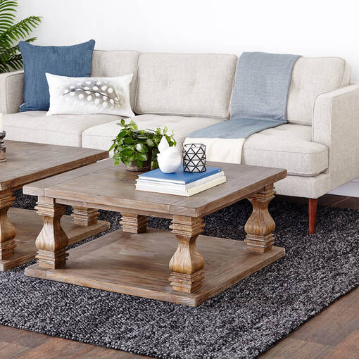 Sussex Square Coffee Table -Brule Pine