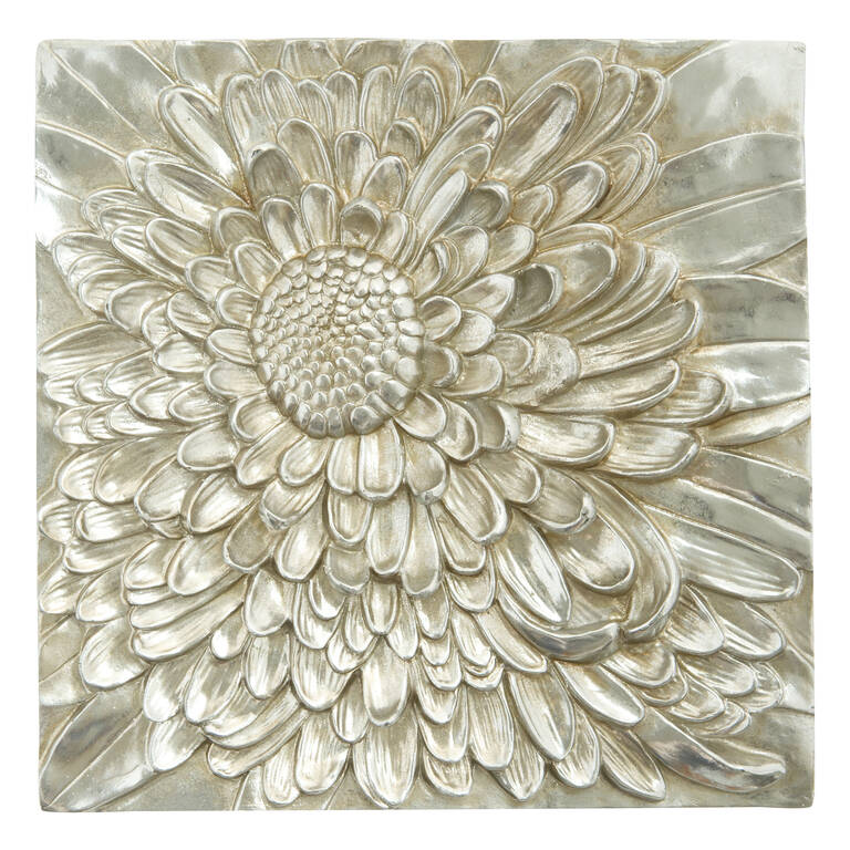 Petalis Small Wall Tile Silver