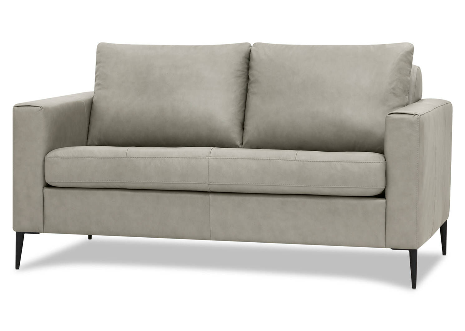Lucca Custom Leather Loveseat