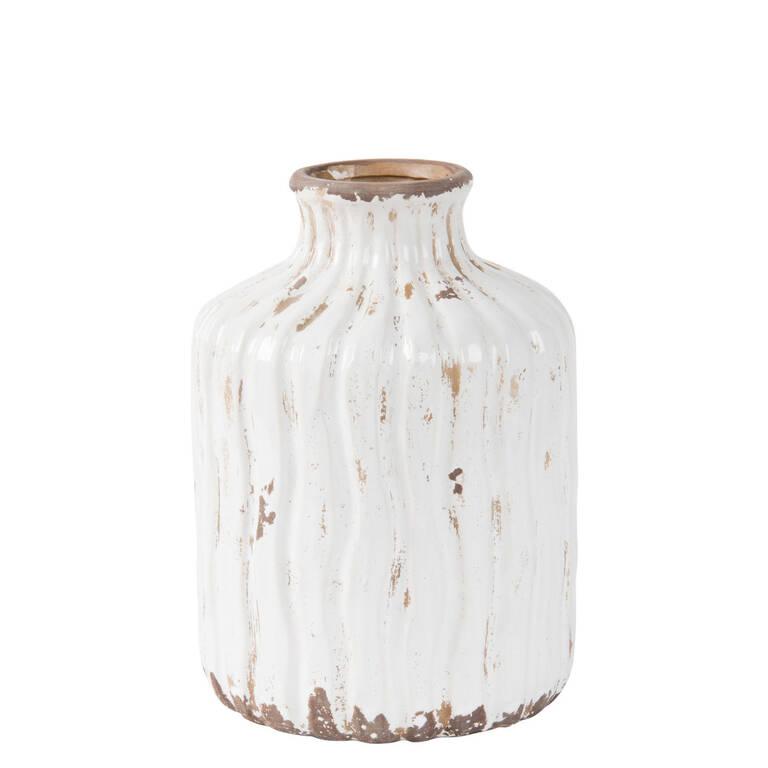 Maliah Vase Small Antique White