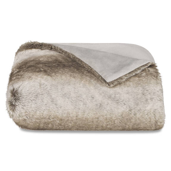Habitat Faux Fur Throw Mink