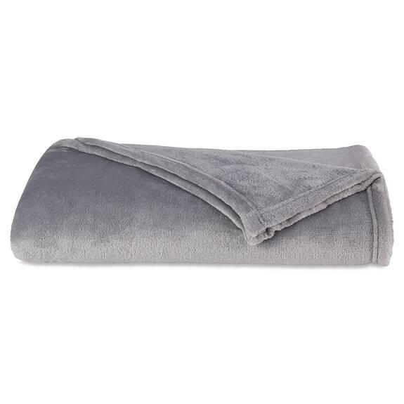 Jeté Cozy Lux gris argenté