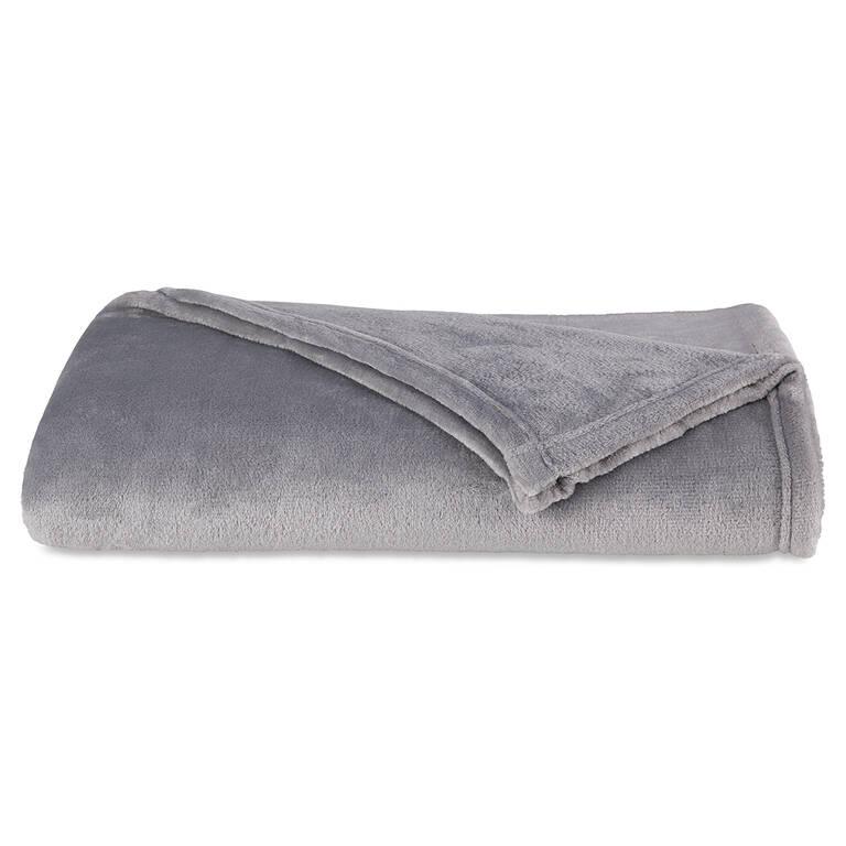 Cozy Lux Throw Silver Grey