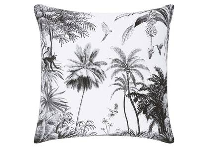 Jungle Canopy Toss 20x20 White/Black