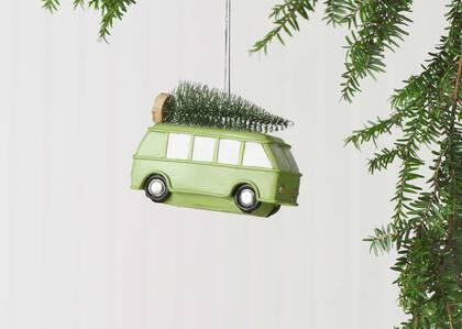 Tree Day Minivan Orn