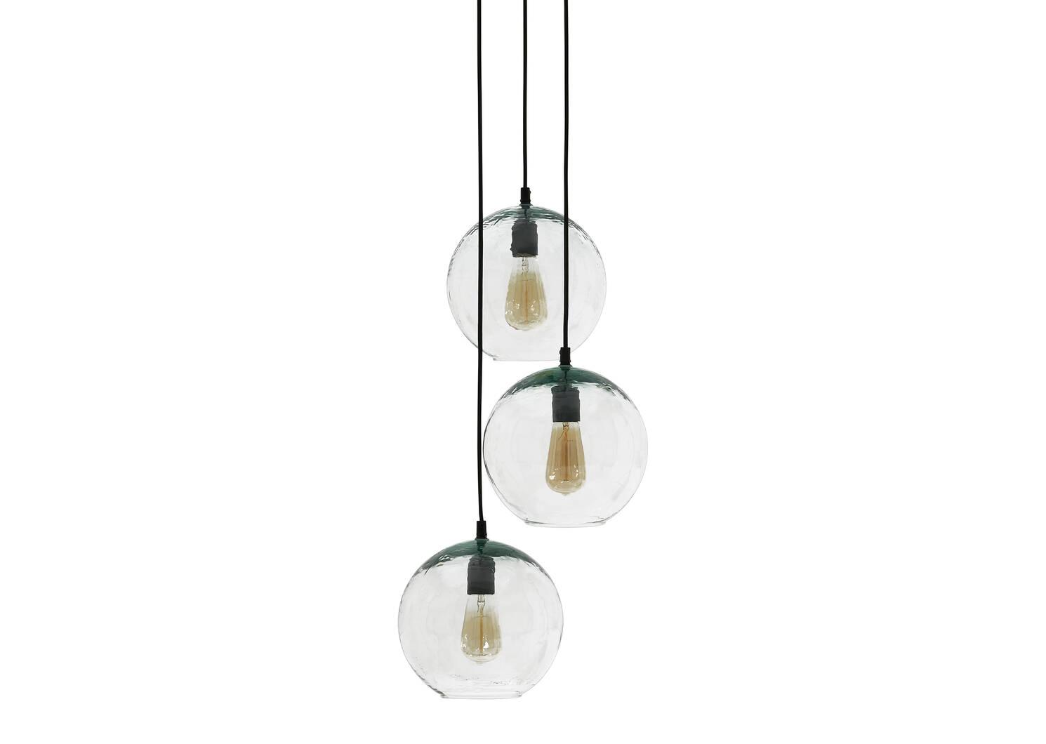 Lampe suspendue à trois lumières Nura