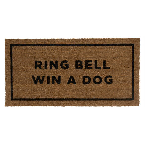 Paillasson Ring Bell Win A Dog
