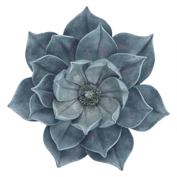 Bloom Wall Decor Small Cerulean